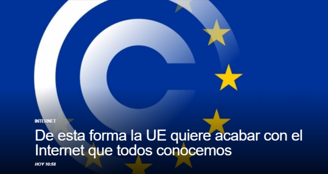 Union Europea y la internet