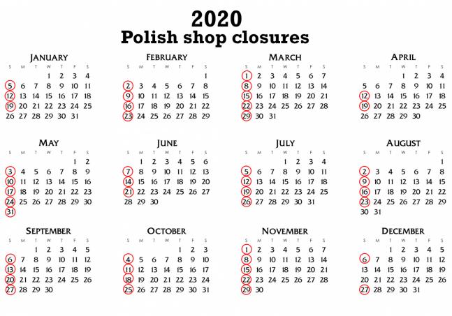 ley dominical polonia 2020